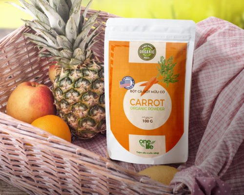 bột cà rốt hữu cơ