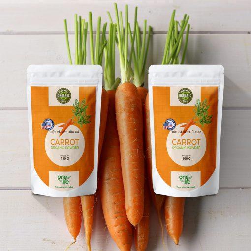 túi bột cà rốt tươi