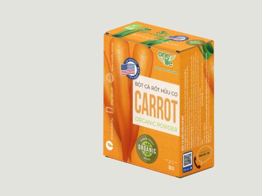 hộp bột cà rốt